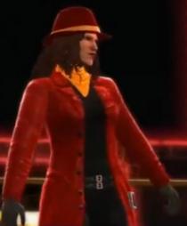 Carmen Sandiego depicted using WWE 2K14