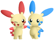 Plusle and Minun (SSBUB)