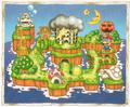 SML2 Artwork - Mario Land Map