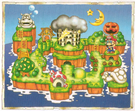 SML2 Artwork - Mario Land Map