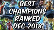 Best Champions Ranked December 2018 - Seatin's Tier List - Marvel Contest Of Champions