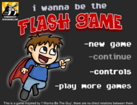 I Wanna Be The Flash Game - Title Screen