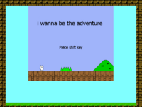 I Wanna Be The Adventure - Title Screen