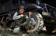 Infantryman in 1942 with M1 Garand, Fort Knox, KY