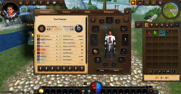 Tut Combat - Inventory and Equipping Items - Inventory and Character Screen.png