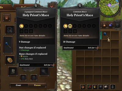 Tut Combat - Inventory and Equipping Items - Comparing Items.png