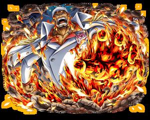 Akainu amiral-en-chef magma