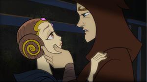 Anakin Skywalker Amidala embrace