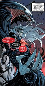 Knull (Earth-616), Knull's Symbiote (Earth-616 ) and Venom (Klyntar) (Earth-616) from Venom Vol 4 31 001