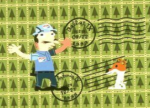 Postman Christmas Bah Bug & Hum