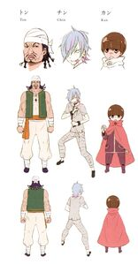 Ton, Chin, Kan Light Novel Concept Art 1