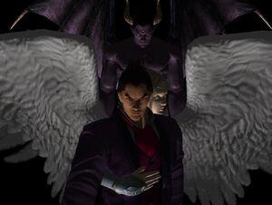 Kazuya mishima devil or angel by dantefreak-d8bhizv