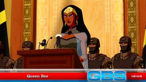 Queen Bee makes a speech