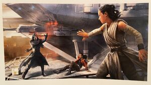 The Art of Star Wars Galaxy's Edge - Vi, Kylo and Rey