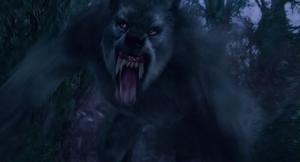Grey Werewolf chases