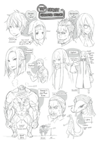 ReZero Ex Volume 2 character concept sheet