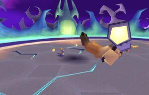 Spyro defeated Spike