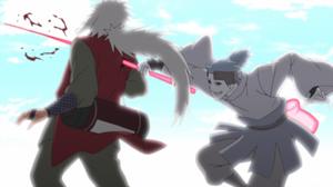Urashiki Stabs Jiraiya