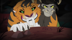 Chimera climbing over the hill S4E17.png