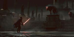 Kylo Ren and space wolves - concept art