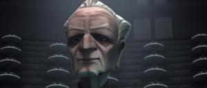 Chancellor Palpatine smug