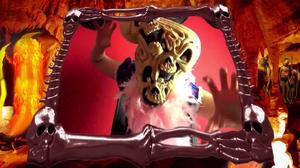 Evilina shape shifts into a demon form