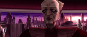 Chancellor Palpatine dawn city-scape