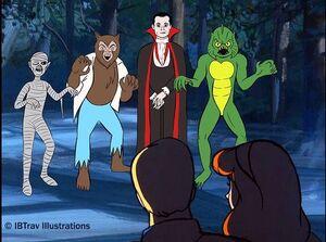 Scooby Doo Universal Monsters