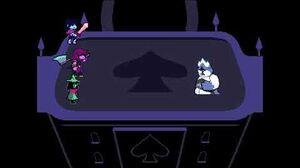 Deltarune King Boss Both Endings (Overthrow Pacify)