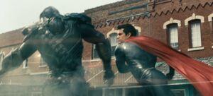 Superman fighting Nam-Ek