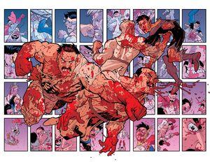 Omni Man and Invincible vs Viltrumite soldiers Image Comics
