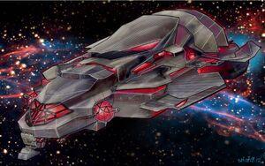 Crib Ship Concept Art - trimetric exterior coloured