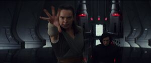 Rey tries to get the saber