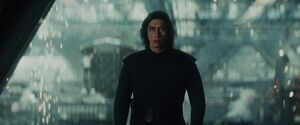 Kylo looking at Rey - second Force-bond scene