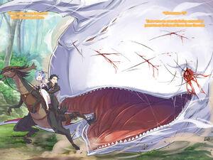 ReZero Volume 7 the Whale pursues Subaru Illustration