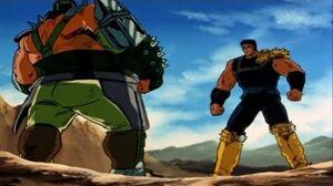 Hokuto no Ken - Raoh Ken-Oh vs Fudo the Ogre