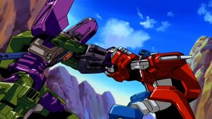 Megatron vs Optimus (Armada)