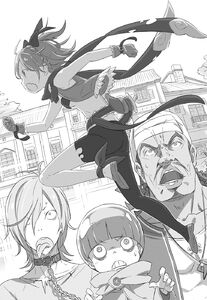 ReZero Volume 1 Felt fleeing from Emilia Illustration