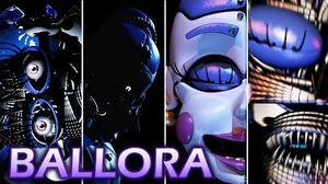 Evolution of Ballora in FNAF (2016-2018)