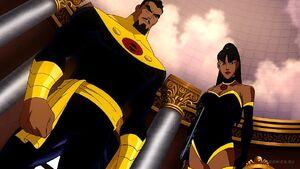 Captain Super and Superwoman