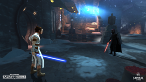 Rey and Kylo - Star Wars Galaxy of Heroes - Galactic Legends
