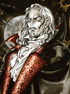 Castlevania - Dracula's portrait as seen in Symphony of the Night