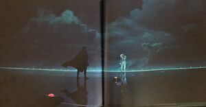 Rey and Kylo on the First Orders ship art