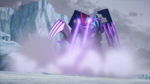 Crustacion using his optic blasters