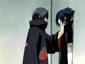 Itachi choking Sasuke