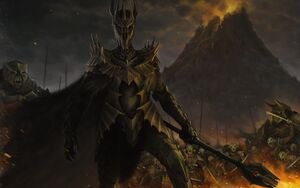 Sauron With his Army