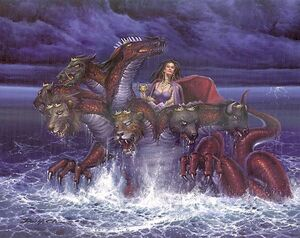 The Whore of Babylon rides the Beast