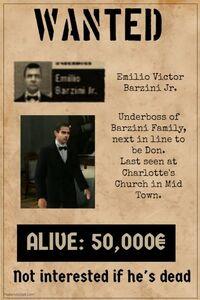 Wanted Emilio Barzini II