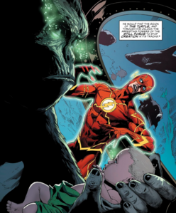 Grodd hold a baby