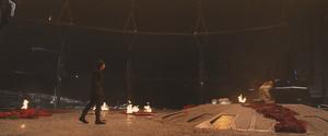 Kylo and Snoke's corpse